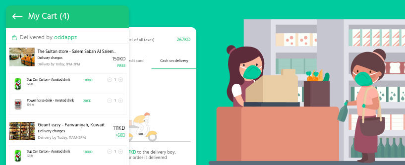 Online grocery ordering system