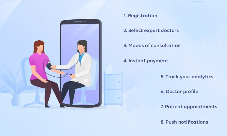How does telemedicine app work