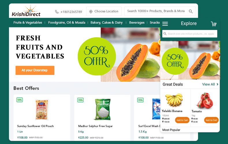 online grocery ordering and delivery app