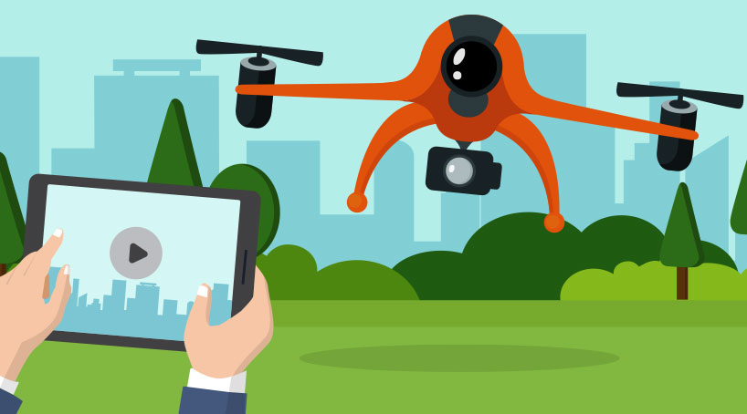 Live HD video feed and gimbal control