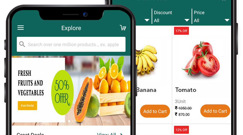 Krishidirect - Online grocery ordering and delivery app