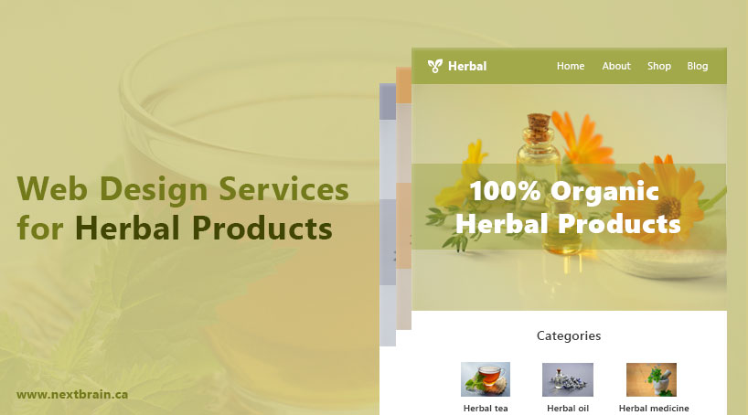 Web Design Services for Herbal Products