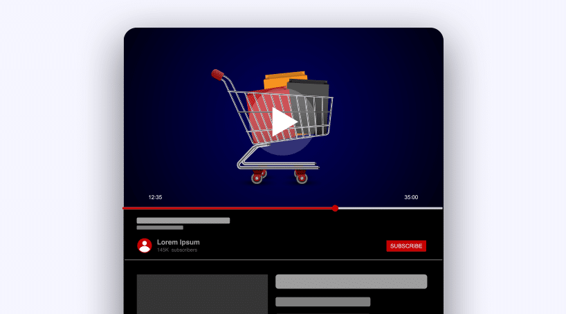 Add product-related videos on Youtube